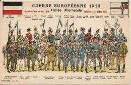 PH 2149 - Guerre 1914 - Armée Allemande  - Différents Uniformes - Uniformes