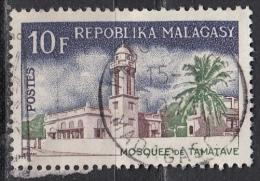 Madagascar, 1967 - 10fr Mosque, Tamatave - Nr.398 Usato° - Madagascar (1960-...)