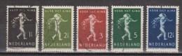 NVPH Nederland Netherlands Pays Bas 327 328 329 330 331 Used Kinderzegels Children Stamps Timbres D´enfants 1939 - 1891-1948 (Wilhelmine)
