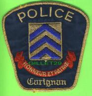 ÉCUSSON TISSU POLICE - PATCH POLICE - POLICE CARIGNAN, QUÉBEC, CANADA - - Ecussons Tissu