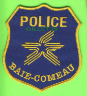 ÉCUSSON TISSU POLICE - PATCH POLICE - POLICE BAIE-COMEAU, QUÉBEC, CANADA - - Patches