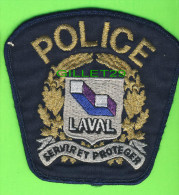 ÉCUSSON TISSU POLICE - PATCH POLICE - POLICE LAVAL, QUÉBEC, CANADA - - Patches