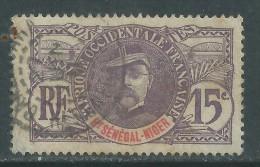 Haut-Sénégal N° 6 O  Type  Faidherbe  : 15 C. Violet  Oblitération Légère SinonTB