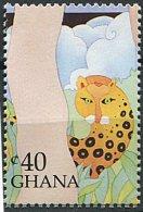 (cl 15 - P14)  Ghana **  N° 1044 (ref. Michel Au Dos) - Léopard - - Ghana (1957-...)