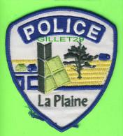 ÉCUSSON TISSU POLICE - PATCH POLICE - POLICE LA PLAINE, QUÉBEC, CANADA - - Patches