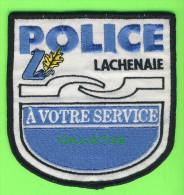 ÉCUSSON TISSU POLICE - PATCH POLICE - POLICE LACHENAIE, QUÉBEC, CANADA - - Patches