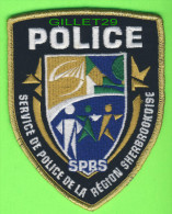 ÉCUSSON TISSU POLICE - PATCH POLICE - SERVICE DE POLICE DE LA  RÉGION SHERBROOKOISE, QUÉBEC, CANADA - - Ecussons Tissu