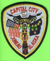 ÉCUSSON TISSU POLICE - PATCH POLICE - CAPITAL CITY POLICE JUNEAU, ALASKA, U.S.A. - - Patches