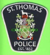 ÉCUSSON TISSU POLICE - PATCH POLICE - ST THOMAS POLICE, ONTARIO, CANADA - - Ecussons Tissu