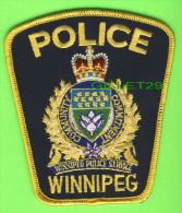 ÉCUSSON TISSU POLICE - PATCH POLICE - WINNIPEG POLICE, MANITOBA, CANADA - - Patches