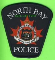 ÉCUSSON TISSU POLICE - PATCH POLICE - NORTH BAY  POLICE, ONTARIO, CANADA - - Patches