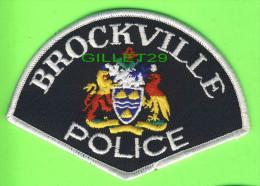 ÉCUSSON TISSU POLICE - PATCH POLICE - BROCKVILLE  POLICE, ONTARIO, CANADA - - Ecussons Tissu