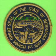 ÉCUSSON TISSU - PATCH - GREAT SEAL OF THE STATE OF NEBRAKA, U.S.A. - MARCH 1st 1867 - - Patches
