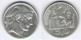 BELGICA BELGIQUE 50  FRANCS 1951 PLATA SILVER - 1945-1951: Régence