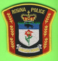ÉCUSSON TISSU POLICE - POLICE PATCH - REGINA POLICE, SASKATCHEWAN, CANADA - - Ecussons Tissu