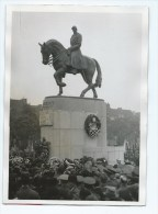 PHOTO DE PRESSE ACTUALIT, INAUGURATION DU MONUMENT AU ROI ALBERT A GAND - Photographs