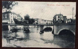 VICENZA - PONTE DEGLI ANGELI -  PRIMO 900 CON TRAM - POSTA MILITARE  53 SU FRANCOBOLLO VENEZIA GIULIA 10 C. - Vicenza