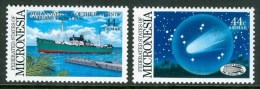 1986 Micronesia Cometa Halley Set MNH** B517 - Micronesia
