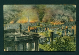 GREECE  -  Salonika  Burned Part Of The High Town  1914-18 WW1  Unused Postcard As Scan (edge Damage) - Greece
