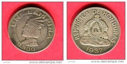 1 LEMPIRA  1937  ( KM   )  TB+  22 - Honduras