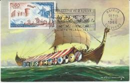 1486 - 9eme CENTENAIRE DE LA BATAILLE D´HASTINGS - L4 - Cartas Máxima