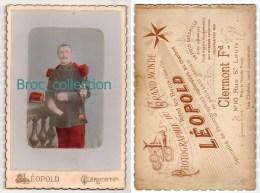 Photo D´un Militaire, 92 Sur Col, Photographe Léopold, Clermont-Ferrand, Colorisée - Guerre, Militaire