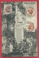 Muizen-bij-Mechelen - Top Kaart - Het Standbeeld - Mooie Animatie -1930 ( Verso Zien ) - Malines