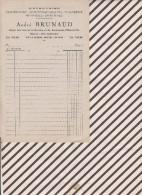 Facture / Courrier VIERGE A BRUNAUD VILLERS SUR MER - 1900 – 1949