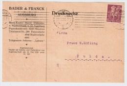 """DR, 1923, Perfin """" BUF """"   Augsburg    #1539 - Deutschland"""