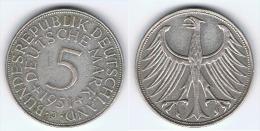 ALEMANIA DEUTSCHE 5 MARK MARCOS 1951 J PLATA SILBER - [ 7] 1949-… : RFA - Rep. Fed. Alemana