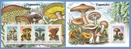 gb15201ab Guinea Bissau 2015 Mushrooms 2 s/s