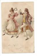 12431 - Couple Dansant Carte Avec Brillants - Danses