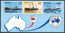 1984 Vanuatu Philatelic Exhibition In Melbourne Navi Ships Navires Maps Cartes Set MNH** B523 - Vanuatu (1980-...)