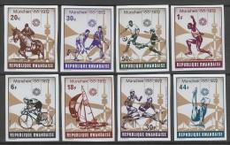 SERIE NEUVE DU RWANDA - JEUX OLYMPIQUES DE MUNICH N° COB 485 A 492 (ND) - Ete 1972: Munich