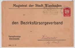 """DR, 1925, Perfin, """" M W """"   Wiesbaden,    #1536 - Deutschland"""
