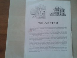 Wolvertem In 1961 Geschreven Door Burgemeester Jacq. T'Kint April 1962 4 Blz. Met Foto Van De Boskapel En Het Gemeentewa - Documentos Históricos