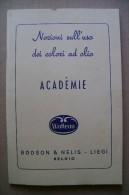 PCP/39 USO COLORI AD OLIO-ACADEMIE Watteau-Bodson & Nélis 1961 - Unclassified