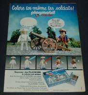 Publicité De 1979 Sur Le Paymobil, Color Toi Même Tes Soldats Playmobil Avec Feutres Spéciaux - Collections