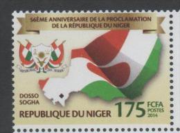 NIGER  ,2014,MNH, PROCLAMATION OF THE REPUBLIC, FLAGS, 1v - Postzegels