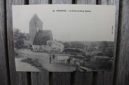 Carte Postale Ancienne Préporché Nièvre La Ferme Du Bourg (Bardot) Animée Attelage De Boeufs - France