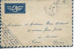 """D´un Militaire Au Secteur Postal 73.462 """"poste Aux Armées T.O.E. """" 1947 - Marcophilie (Lettres)"""