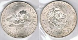 MEXICO 5 PESOS 1959 CARRANZA PLATA SILVER - México