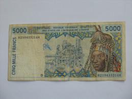 5000  Cinq Mille Francs - MALI  **** EN ACHAT IMMEDIAT **** - Mali
