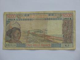 5000  Cinq Mille Francs 1983 - K= Sénégal   **** EN ACHAT IMMEDIAT **** - Sénégal