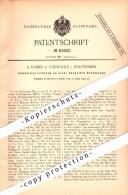Original Patent - A. Daiber In Vorwohle B. Holzminden , 1895 , Umstellapparat Für Sackwaage , Lenne !!! - Historische Dokumente