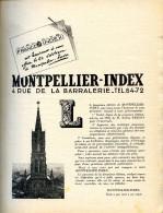 Montpellier - Index 1948,  Editions Tellière Dépôt Légal : 1er Trimestre 1948 Publicité Hérault - Languedoc-Roussillon