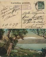 CARTOLINA GARDONE RIVIERA POSTA MILITARE 5 DIVISIONE ALPINA 1917 EDOLO X SAVONA - Military Mail (PM)
