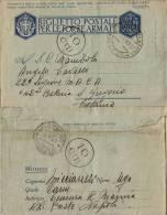 BIGLIETTO FRANCHIGIA WWII CENSURA MARINA  UFFICIO UPECC NAPOLI 1942 X S GREGORIO - Posta Militare (PM)