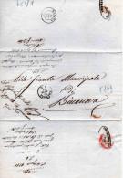 ANTICO PIEGO POSTALE-CONGREGAZIONE DI CARITA' DI CREMONA-DISPOSIZIONI SULLA PREVENZIONE DEL MORBO ASIATICO-15-8-1865