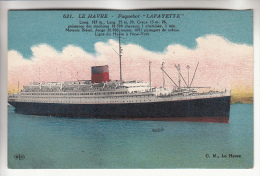 "Paquebot "" LAFAYETTE ""  Ligne LE HAVRE - NEW YORK -  CPA Colorisée - Cruise Ship Kreuzfahrtschiff Cruiseschip Pakkeboot - Steamers"